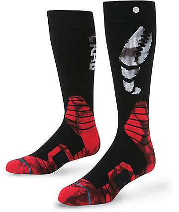 Crab Grab x Stance Black & Red Snow Socks