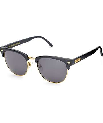 Crap Nudie Club Flat Black & Gold Sunglasses