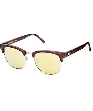 Crap Nudie Club Matte Tortoise & Gold Sunglasses