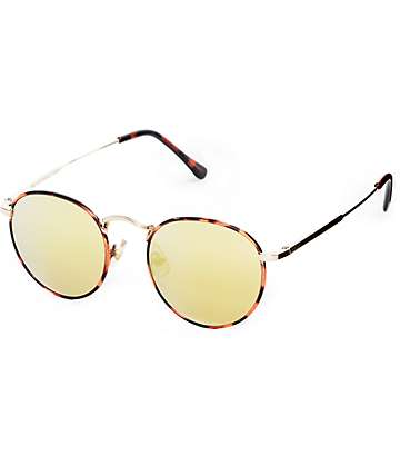 Crap Tuff Patrol Brown Tortoise & Gold Sunglasses