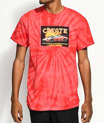 Create Lambo Red Tie Dye T-Shirt