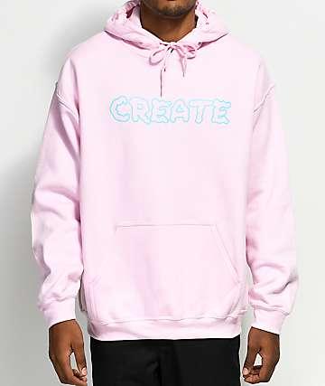 Create Wobble Pink Hoodie