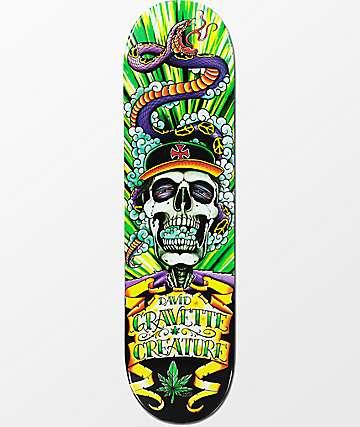 "Creature Gravette Hippie Skull 4 8.26"" tabla de skate"