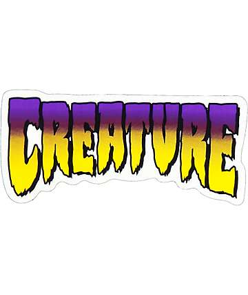 "Creature Purple Logo 5"" pegatina"