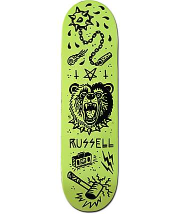 "Creature X Sketchy Tank Russell Tanked Glow 8.5"" tabla de skate"