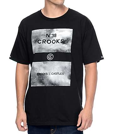 Crooks & Castles 38 Grime Black T-Shirt
