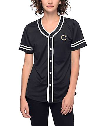 Crooks & Castles Black & Gold Baseball Jersey
