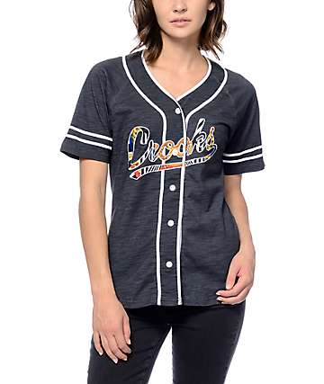 Crooks & Castles Cabana Black Baseball Jersey
