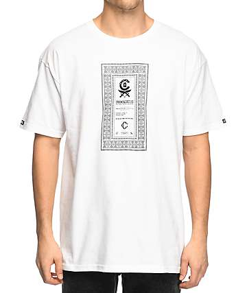 Crooks & Castles Classified White T-Shirt