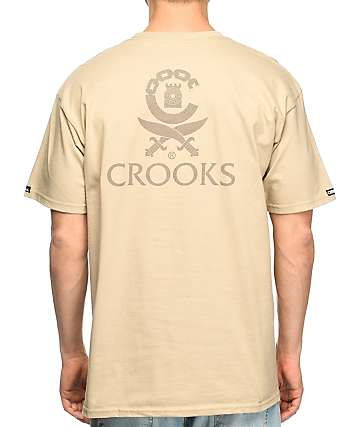 Crooks & Castles Classified camiseta en color caqui
