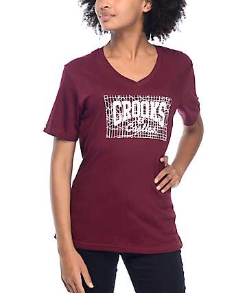 Crooks & Castles Core Logo Burgundy T-Shirt