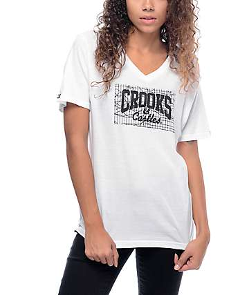 Crooks & Castles Core Logo White T-Shirt