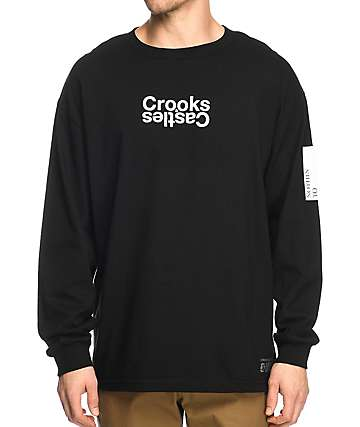 Crooks & Castles Covert Track Black Long Sleeve T-Shirt