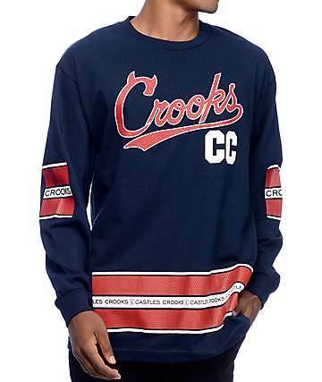 Crooks & Castles Crooks Team Navy Long Sleeve T-Shirt