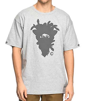 Crooks & Castles Cryptic Medusa Grey T-Shirt