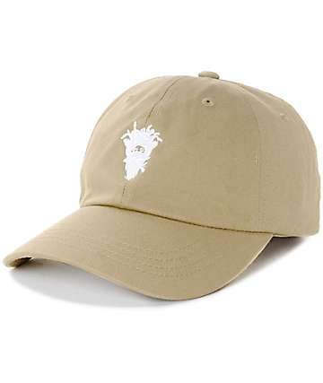 Crooks & Castles Cryptic Medusa Khaki Baseball Hat