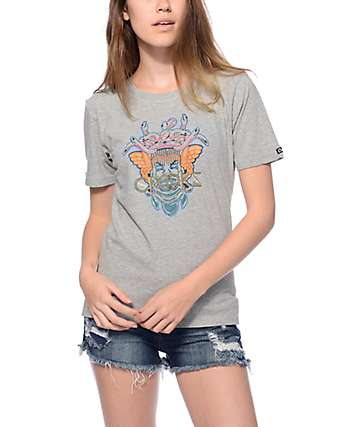 Crooks & Castles Heather Grey Tigre T-Shirt