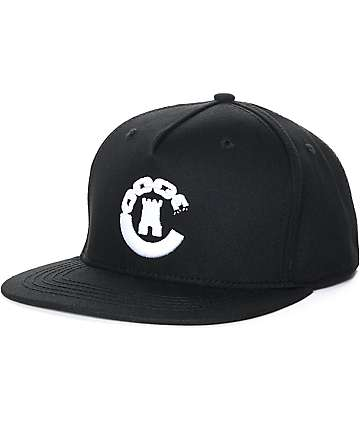 Crooks & Castles Hybrid C Black Snapback Hat