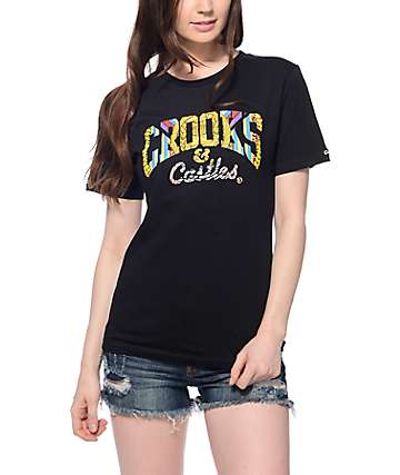 Crooks & Castles Medusa Core Black T-Shirt