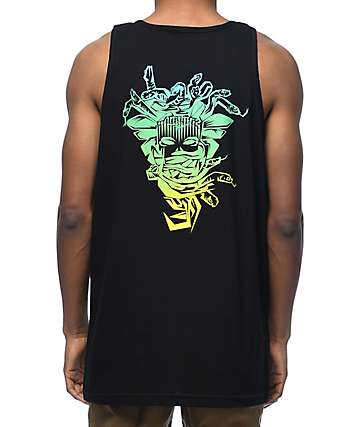 Crooks & Castles Medusa Fade camiseta negra sin mangas