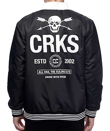 Crooks & Castles Members Black Jacket
