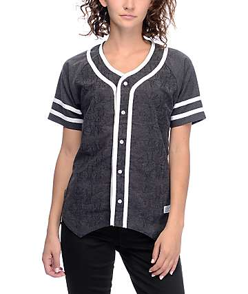 Crooks & Castles Poison Black Baseball Jersey