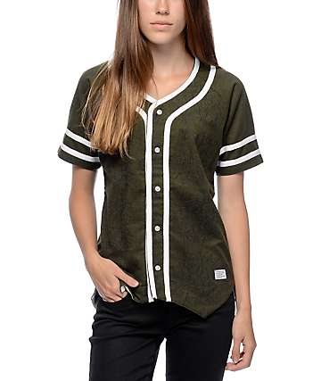 Crooks & Castles Poison Green Baseball Jersey
