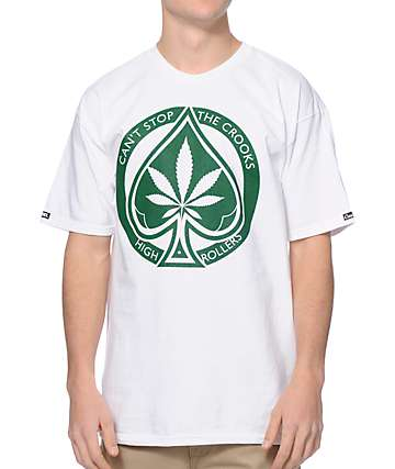 Crooks & Castles Spade Roller White & Green T-Shirt