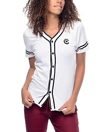 Crooks & Castles Swing White Baseball Jersey