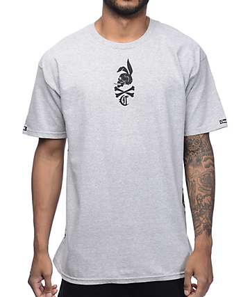 Crooks & Castles The Player Heather Grey T-Shirt