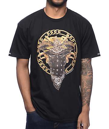 Crooks & Castles Cultivated Lux Medusa Black T-Shirt