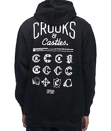Crooks & Castles Hoods Black Hoodie