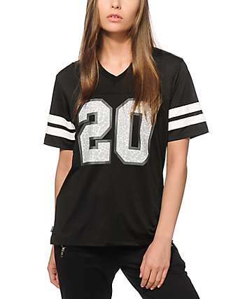Crooks and Castes Lady Crooks Black Mesh Football Jersey