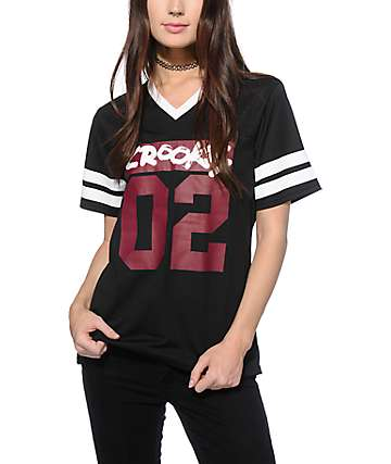 Crooks and Castles All City Black Football Jersey
