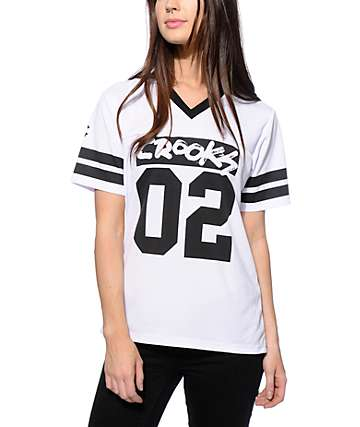 Crooks and Castles All City White Football Jersey