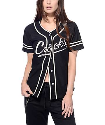 Crooks and Castles Black Baseball Jersey