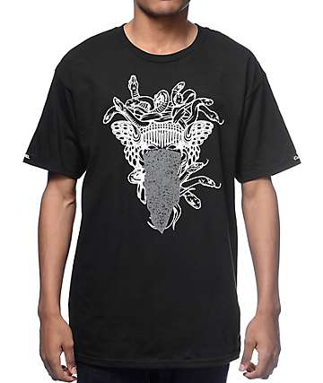 Crooks and Castles Black Medusa Speckle T-Shirt