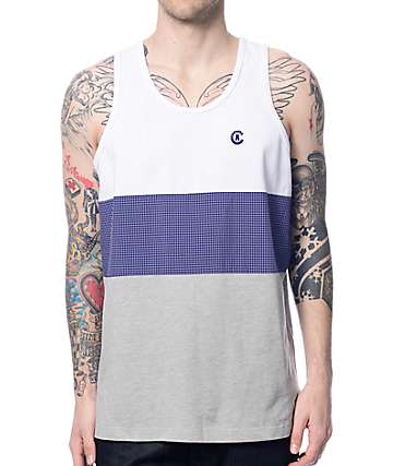 Crooks and Castles Carnegie White Tank Top
