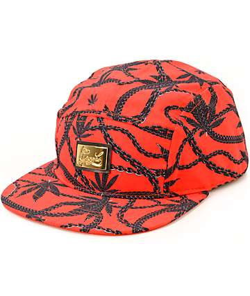 Crooks and Castles Chainleaf 5 Panel Hat