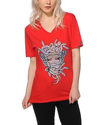 Crooks and Castles Euphoria Medusa V-Neck T-Shirt