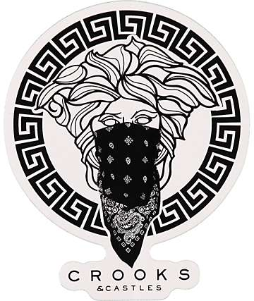 Crooks and Castles Greco Sticker