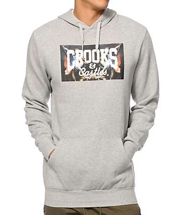 Crooks and Castles Hierarchy Core Logo Hoodie
