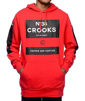 Crooks and Castles Klepto Red Hoodie