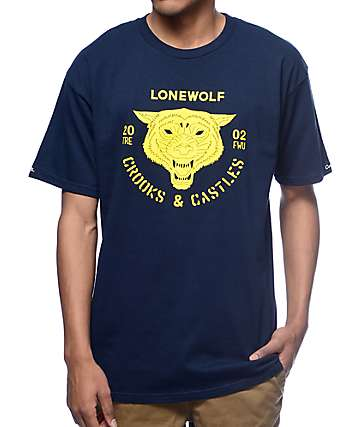 Crooks and Castles Lonewolf Navy T-Shirt