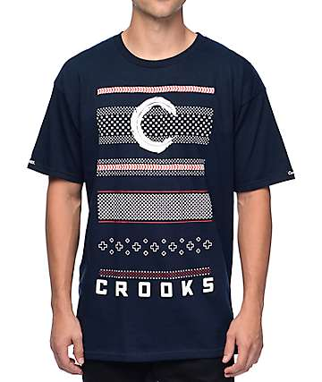 Crooks and Castles Lost Tribe Navy T-Shirt