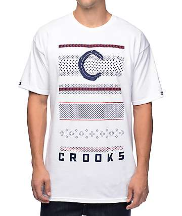 Crooks and Castles Lost Tribe White T-Shirt