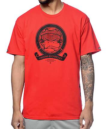 Crooks and Castles Medusa Banner Red T-Shirt