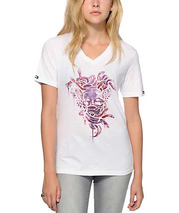 Crooks and Castles Medusa Burn V-Neck T-Shirt