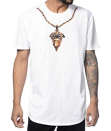 Crooks and Castles Medusa Chain Scallop White T-Shirt
