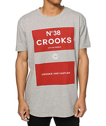 Crooks and Castles NO.38 Scallop Long T-Shirt